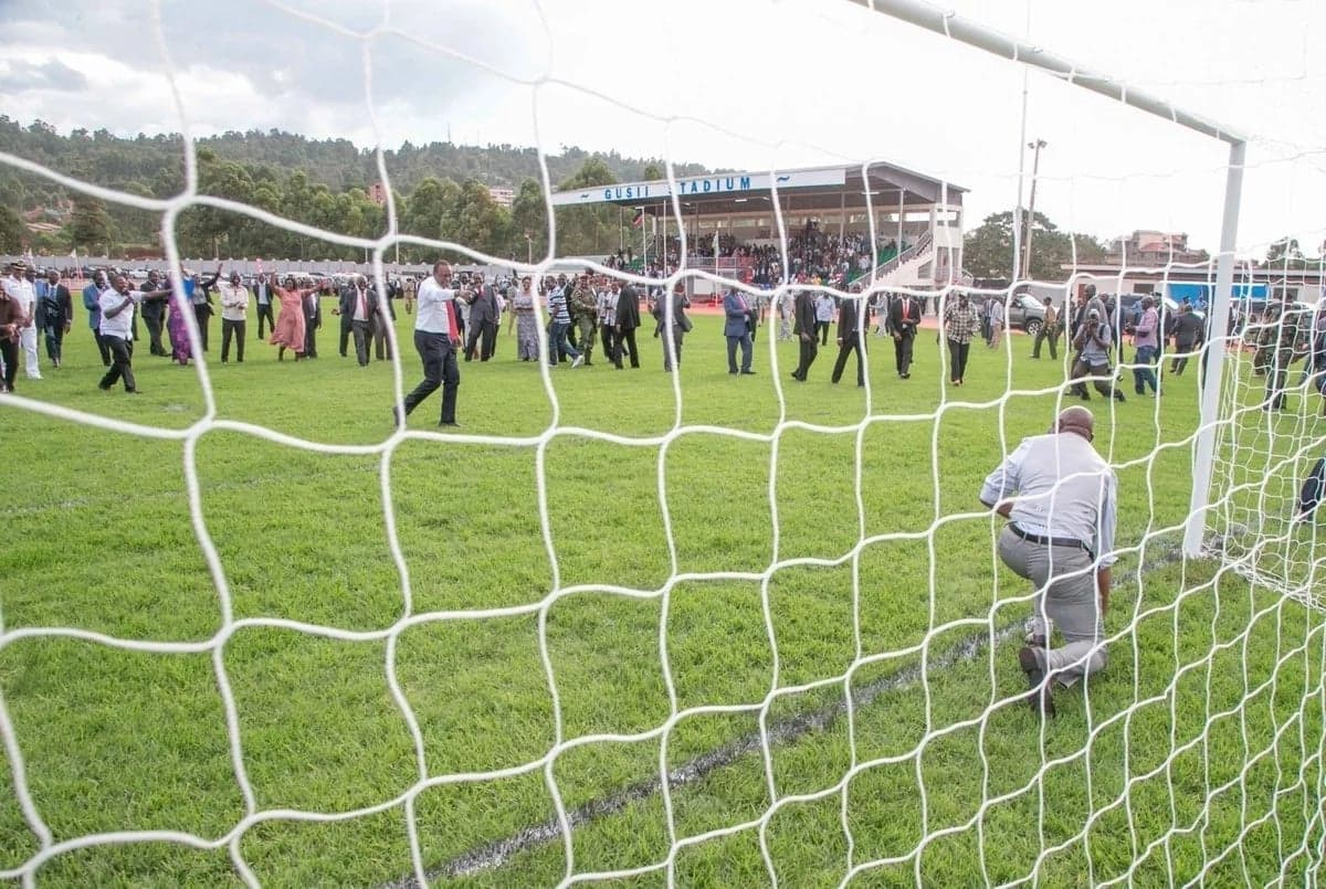 Uhuru lights up social media with impressive penalty-taking skills