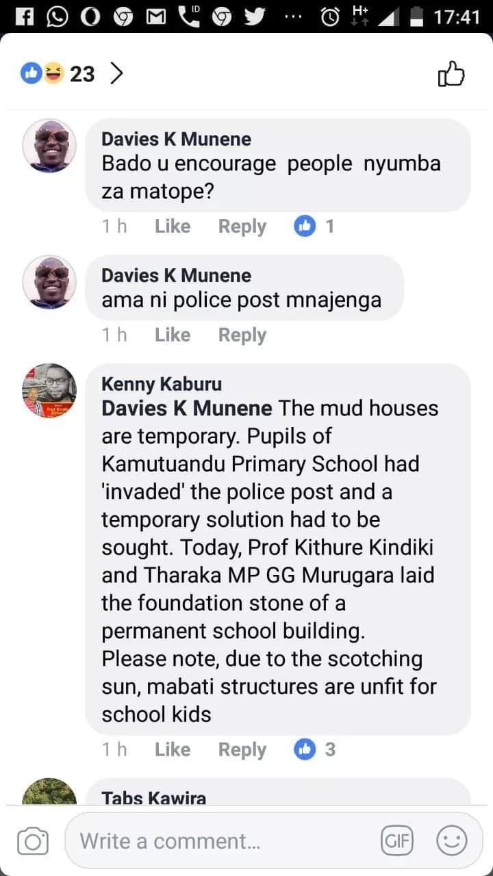 Tharaka Nthi senator, Kindiki Kithure, under fire for putting up mud-walled classroom