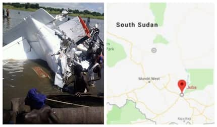 17 dead after plane plunges into river in South Sudan