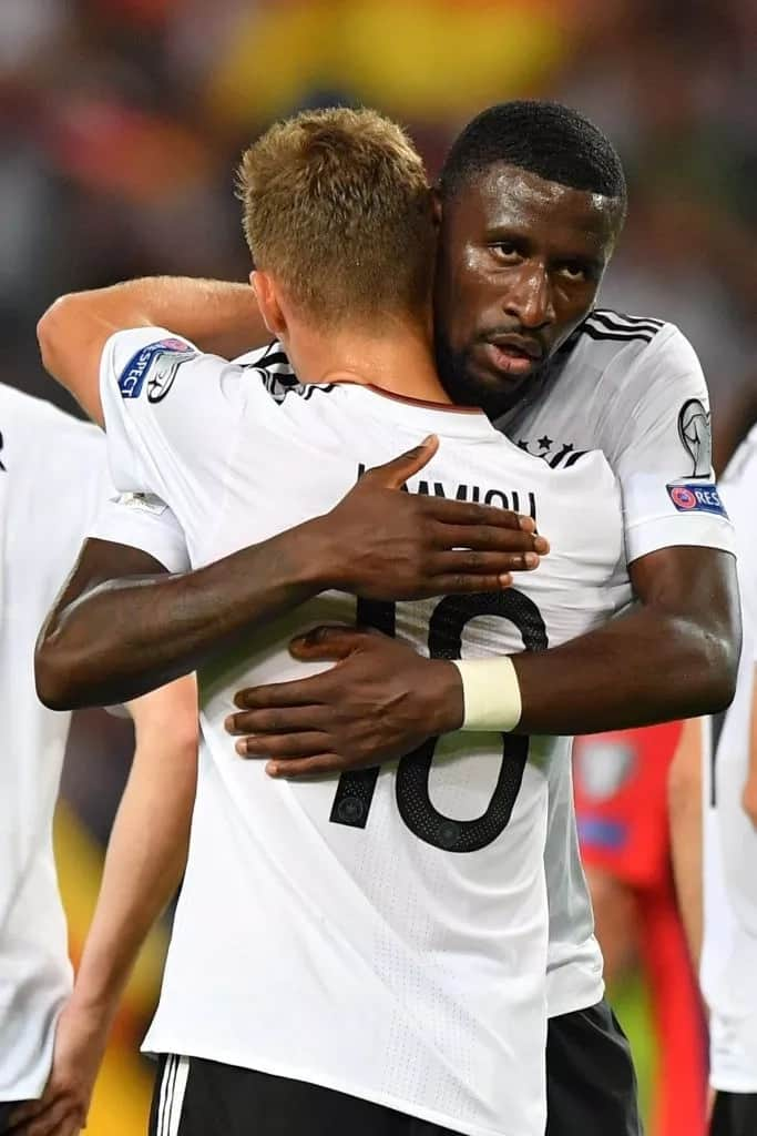 Sparks fly as Joshua Kimmich and Antonio Rudiger in fiery bust-up during Germany training
