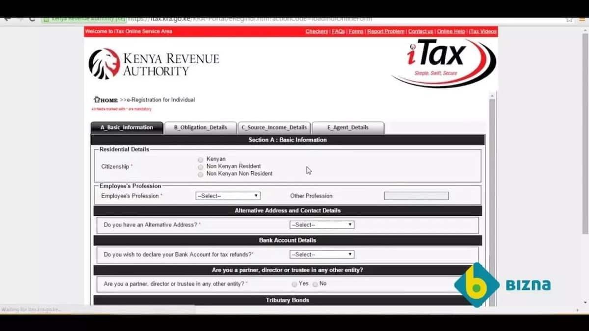 KRA pin application procedure- basic information