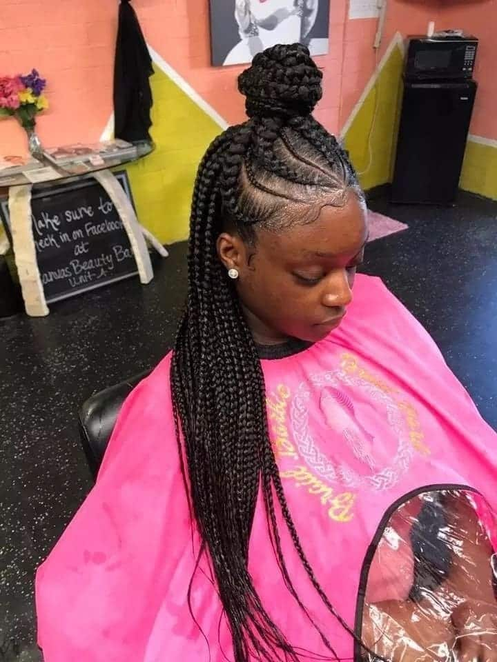 Beautiful Ghanaian lines hairstyles