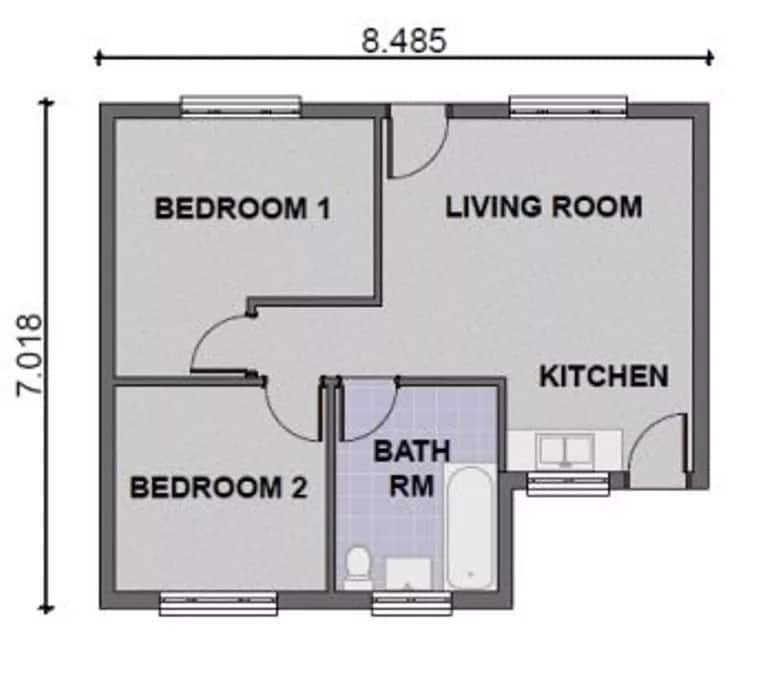 Simple two bedroom house plans in Kenya ▷ Tuko.co.ke