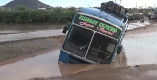 Passengers escape death, bridge overrun by floods as heavy rains cause havoc in Turkana
