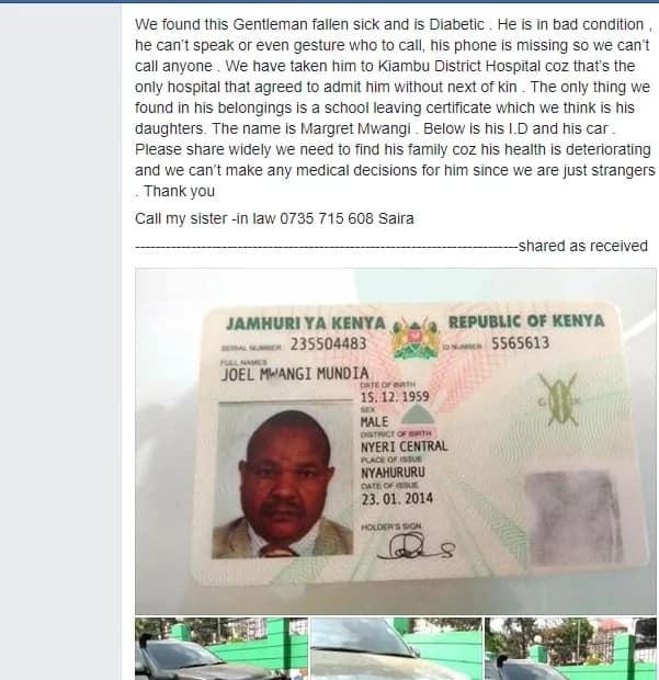 Huzuni mwanamume aliyeokolewa na Wakenya akiwa mgonjwa akifariki