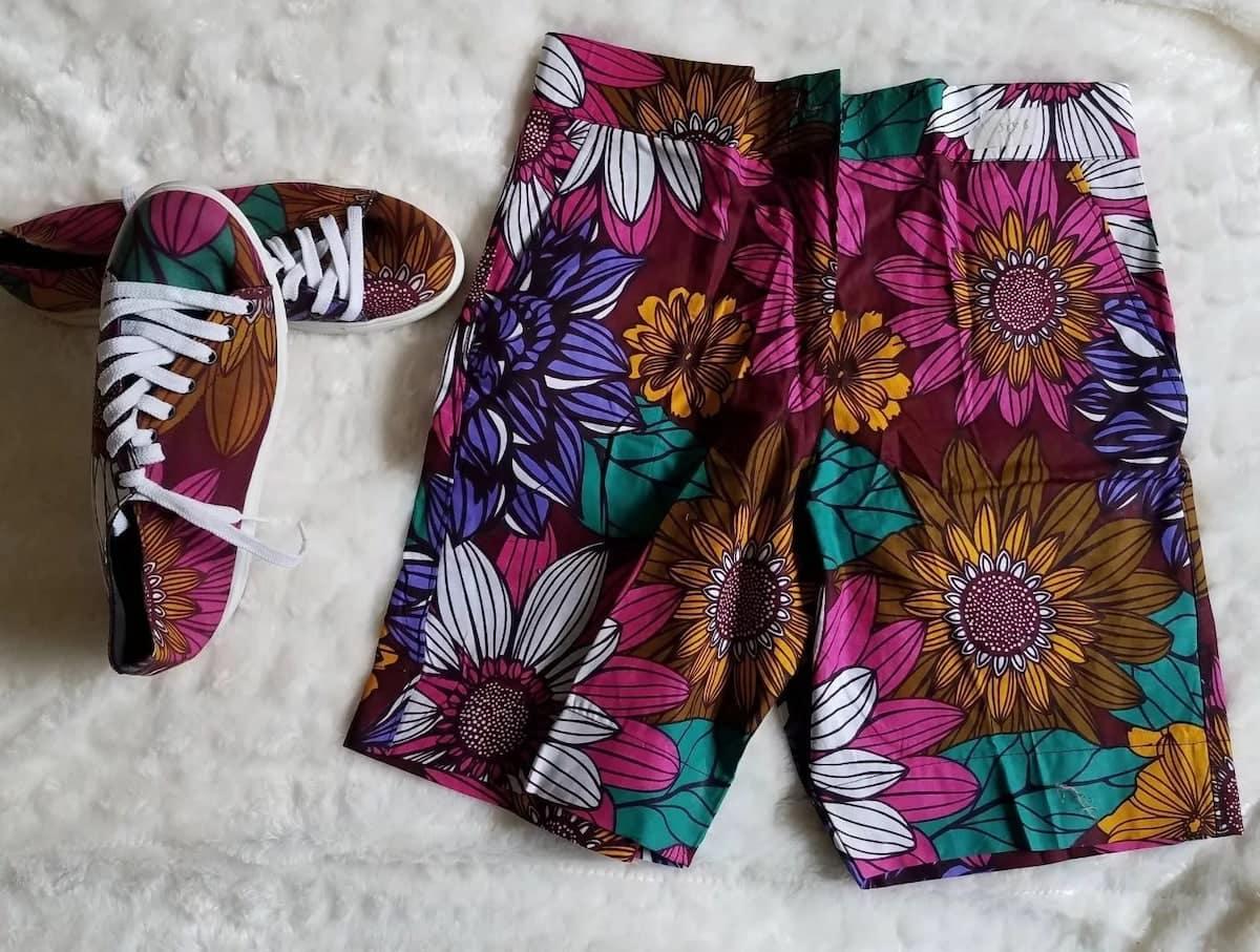 Ankara shorts for men Ankara fabric shorts Ankara beach shorts