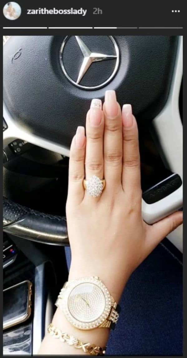 Zari Hassan flashes expensive engagement ring days after breakup with Diamond