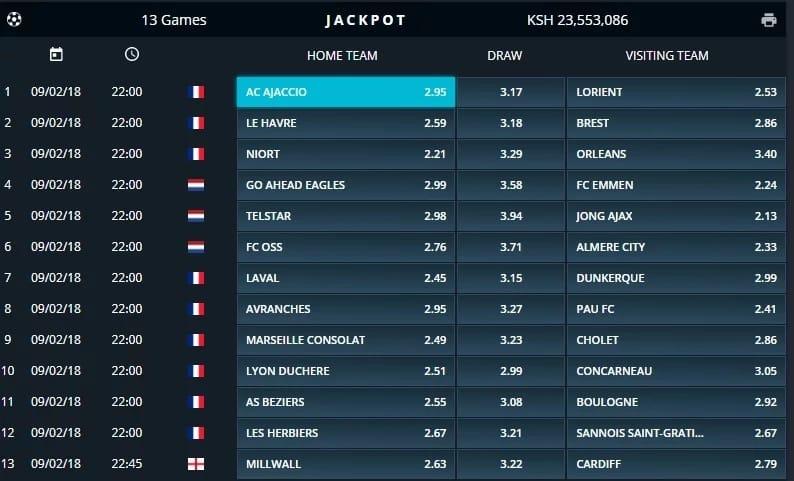 Sportpesa Jackpot this week