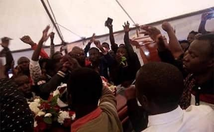 Students demand for justice as Sharon Otieno is buried