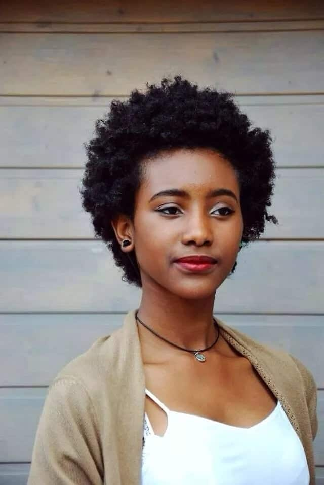 Short afro hairstyles for ladies