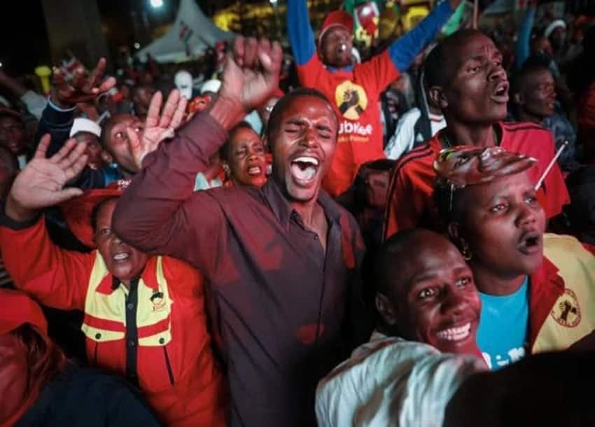 Uhuru to educate children of woman who died celebrating his victory over Raila