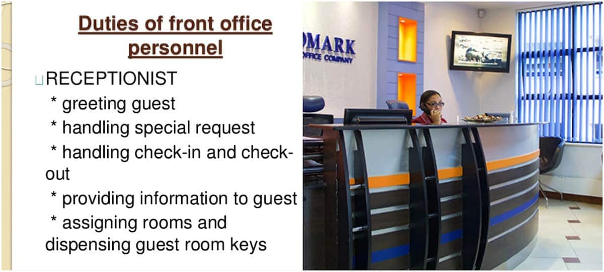 Roles of a receptionist Responsibilities of a receptionist Receptionist duties and responsibilities