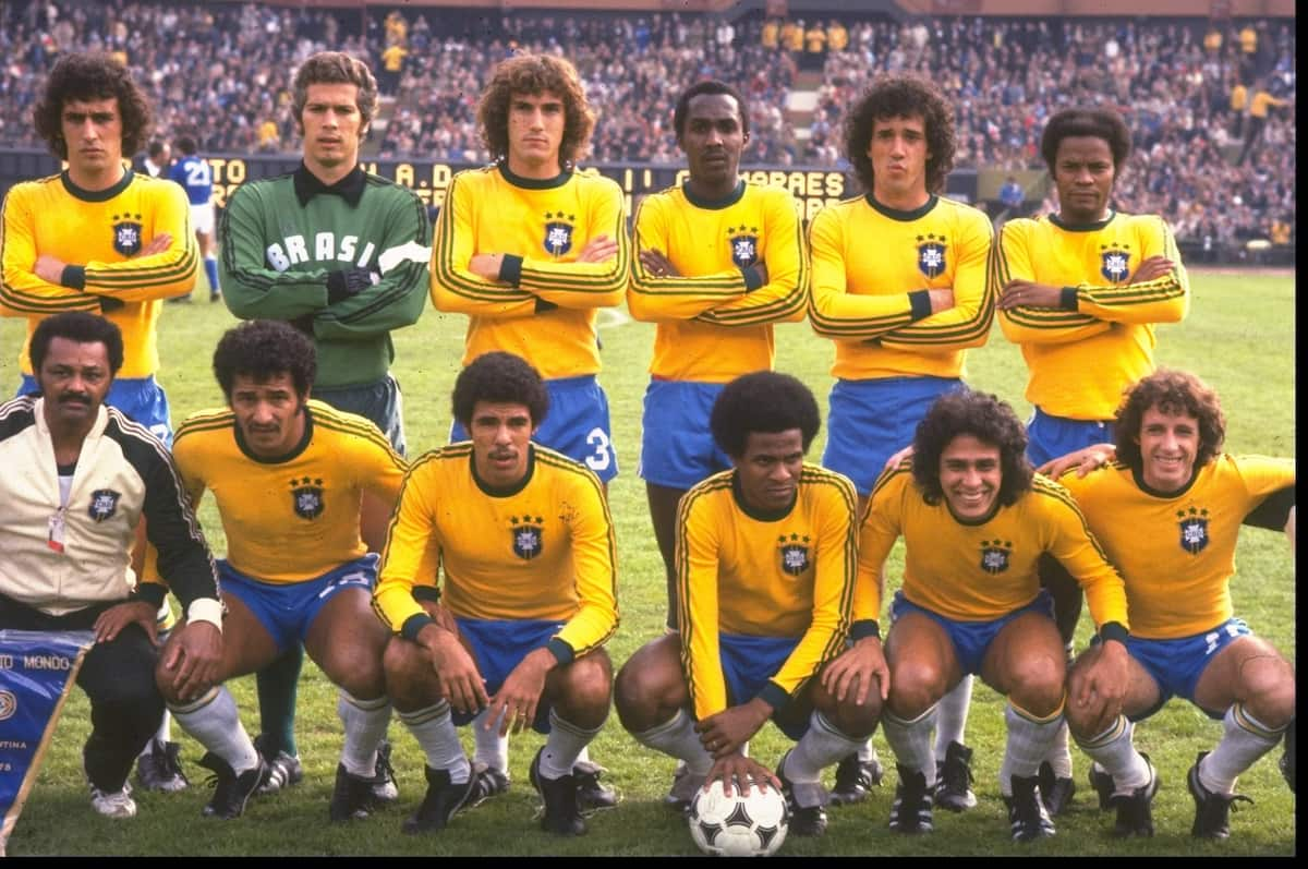 The Brazilian team at the World Cup 1978