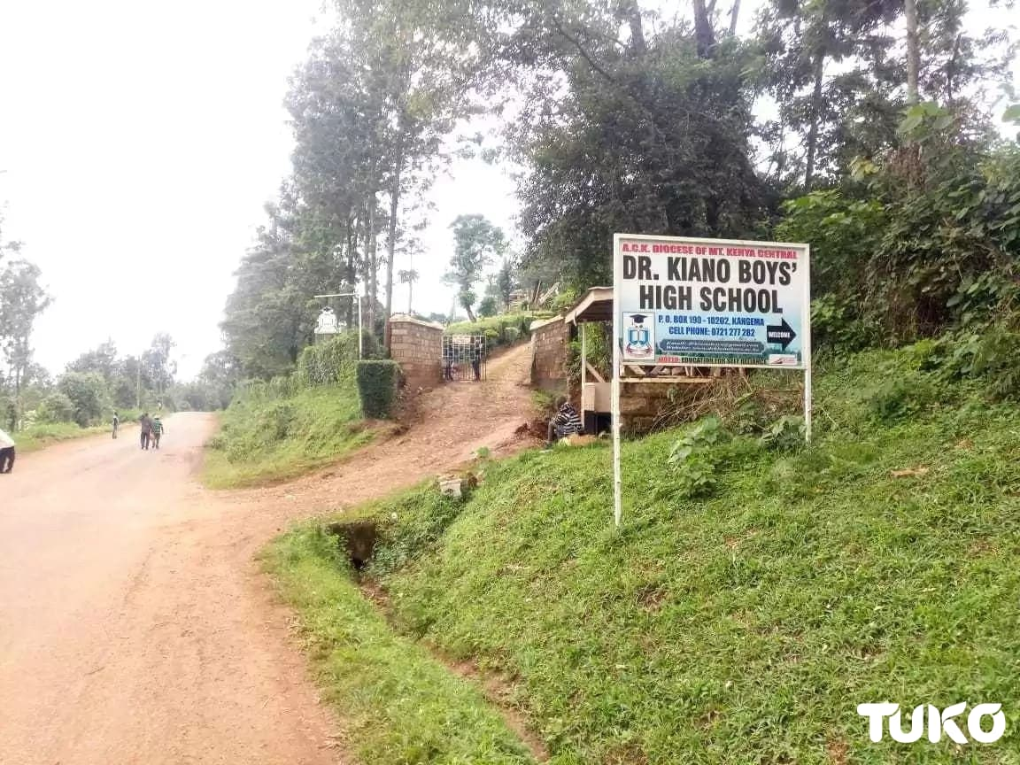 Dr Kiano Boys' students stone residents attempting to extinguish fire consuming dormitory