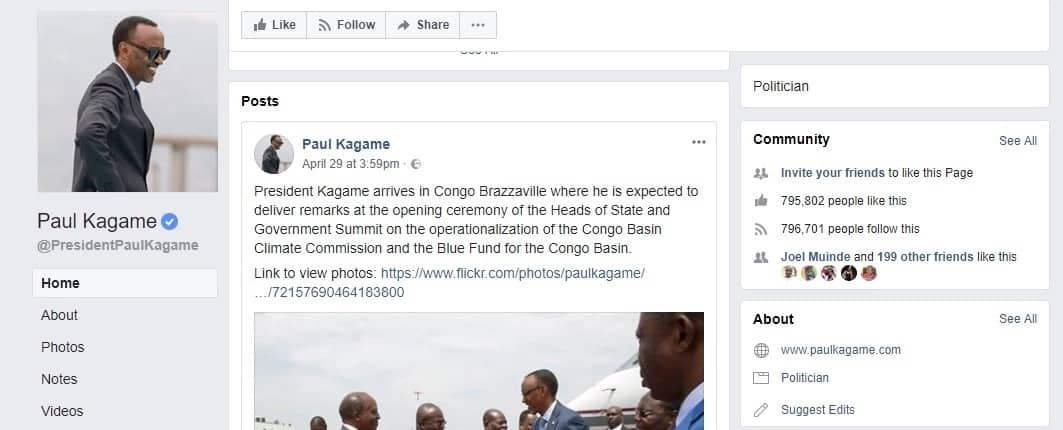 Uhuru Kenyatta maintains lead as most followed president in Sub-saharan Africa