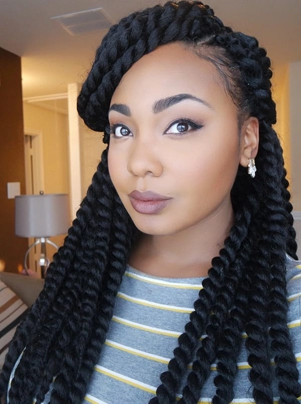 Latest African hairstyles braids 2018