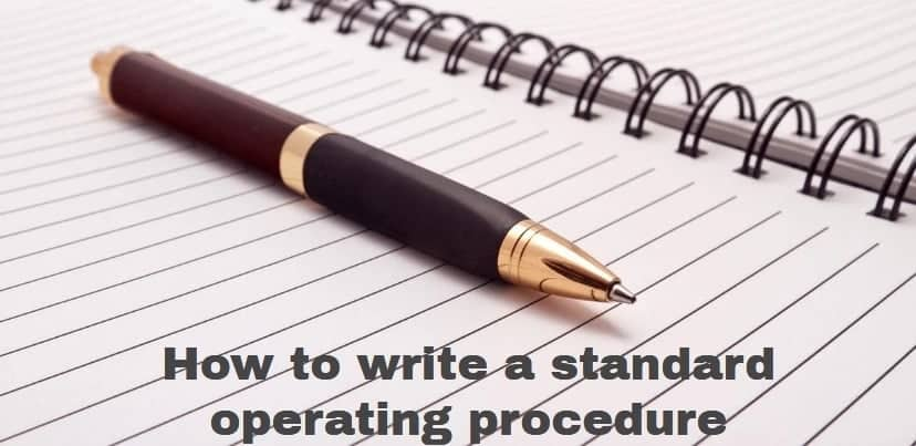 How to write a standard operating procedure, standard operating procedure, standard operating procedure format