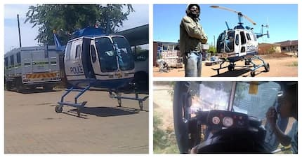 This man's home built helicopter will make you do a double-take