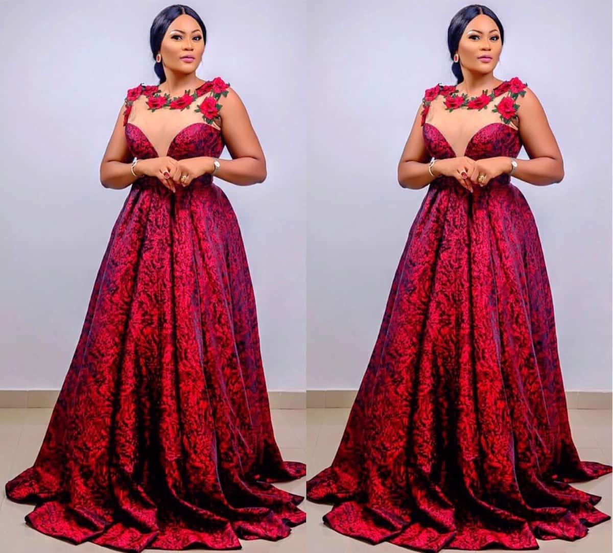 Kitenge designs for ladies- wedding gown