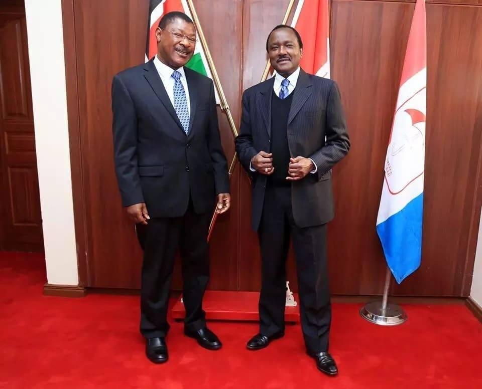 Kalonzo meets troubled Wetang'ula days after embracing Uhuru, says NASA united