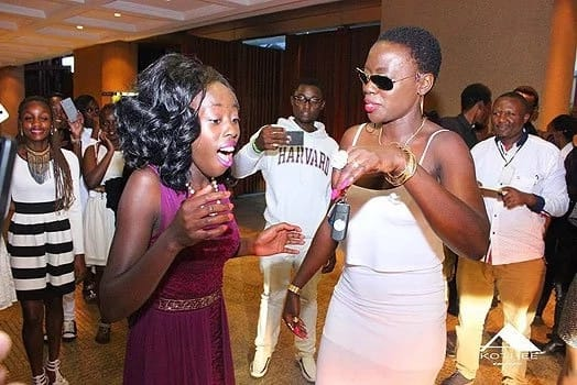 Akothee and Jalang'o get romantic, plant kisses with affection
