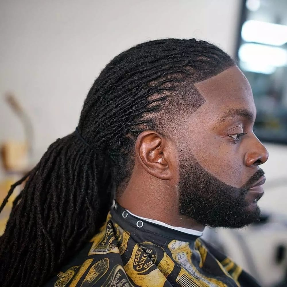 Картинки по запросу Dark Hair Guys Braid with Headband Ponytail man