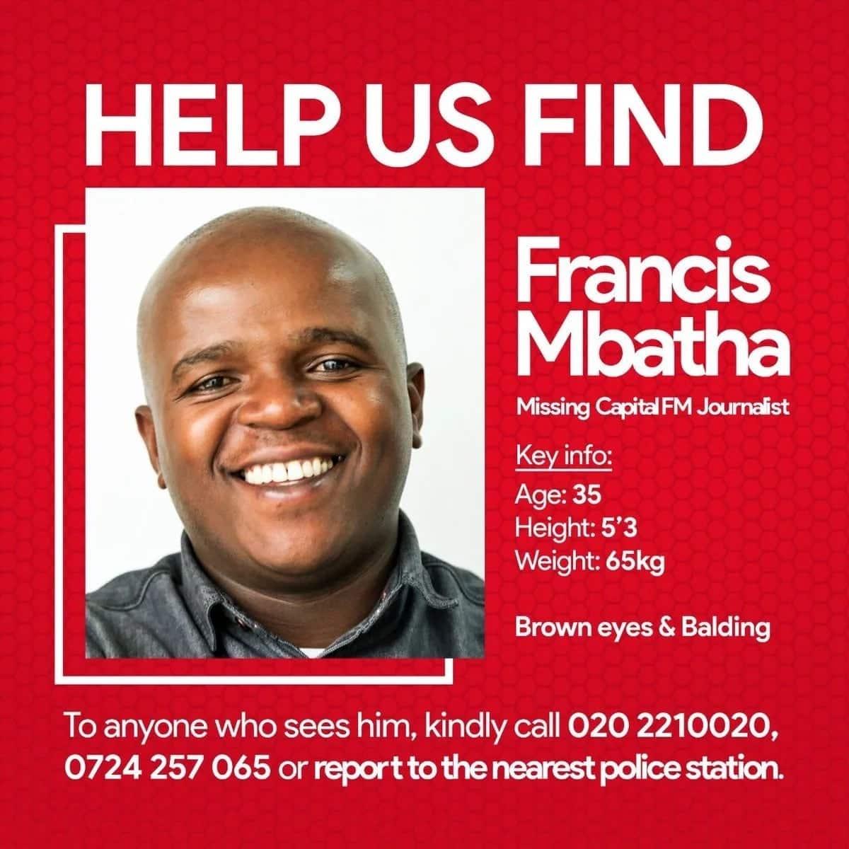 Capital FM journalist goes missing