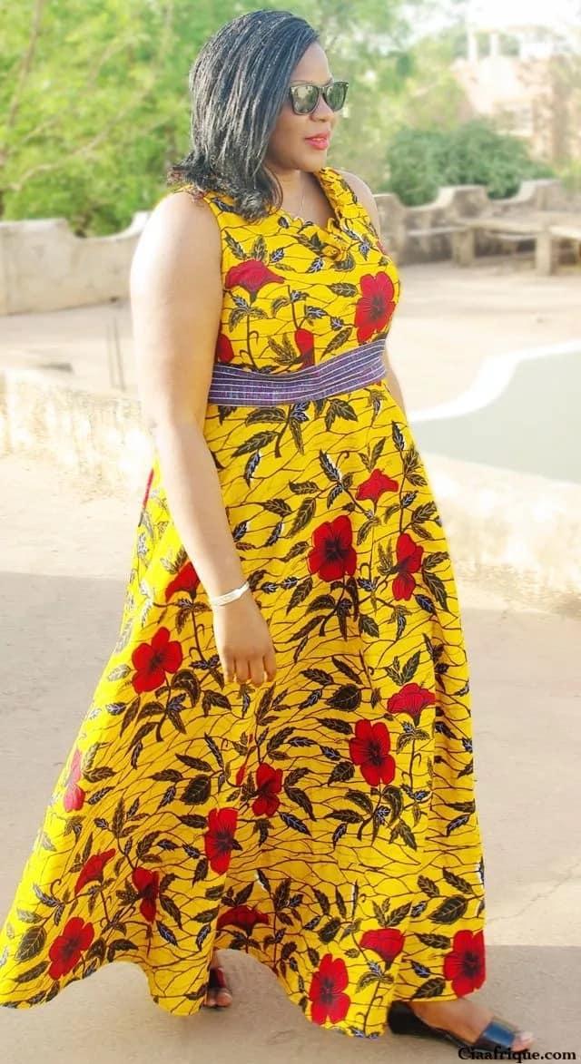 Flowery Kitenge designs for ladies