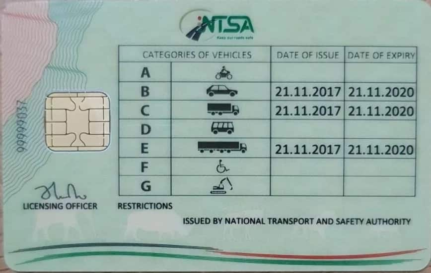 Sample of Kenya's new smart driving license and what it will contain
