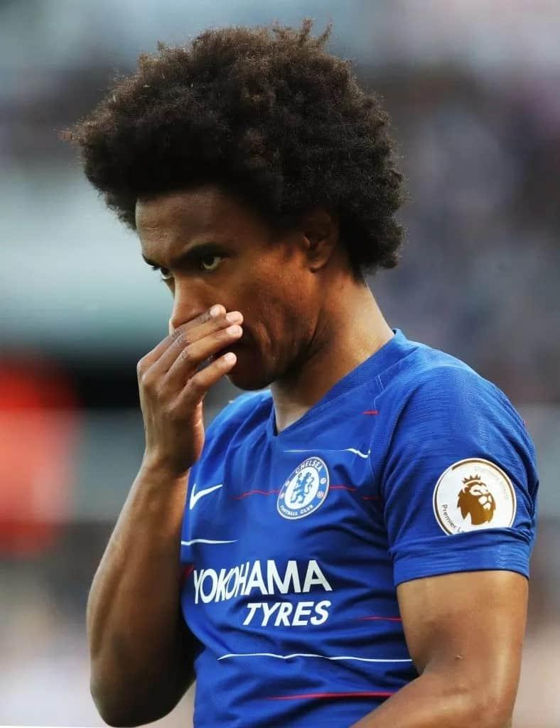 Willian trains with Chelsea ahead of Community Shield showdown against Man City
