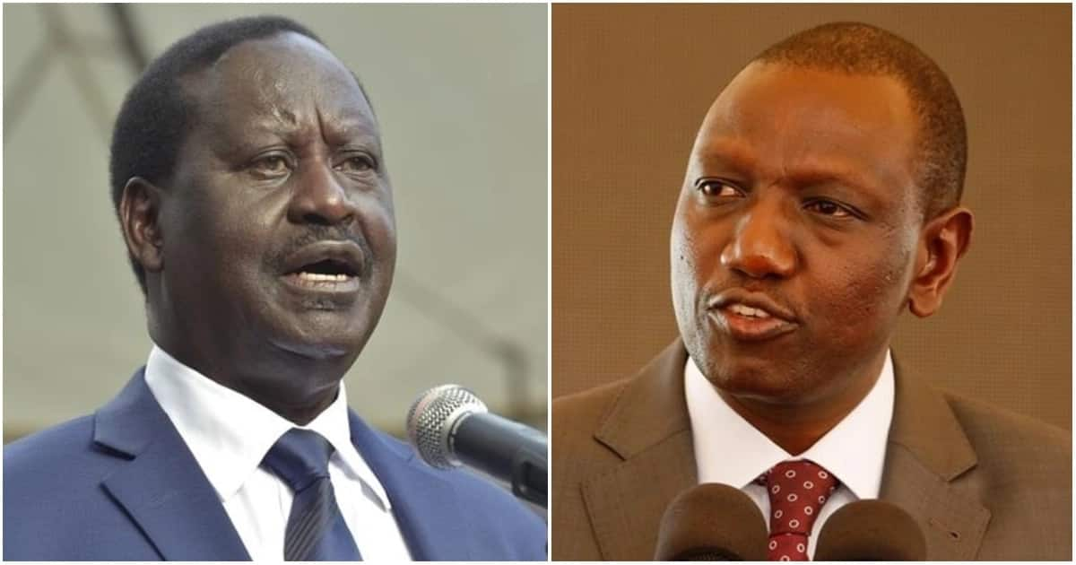 Deputy President William Ruto (right) has on various occasions differed with former Prime Minister Raila Odinga over a proposal to change the governance structure.
