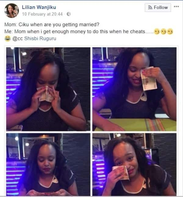 Kenyan woman excites social media after appearing to blow her nose with KSh 1000 note