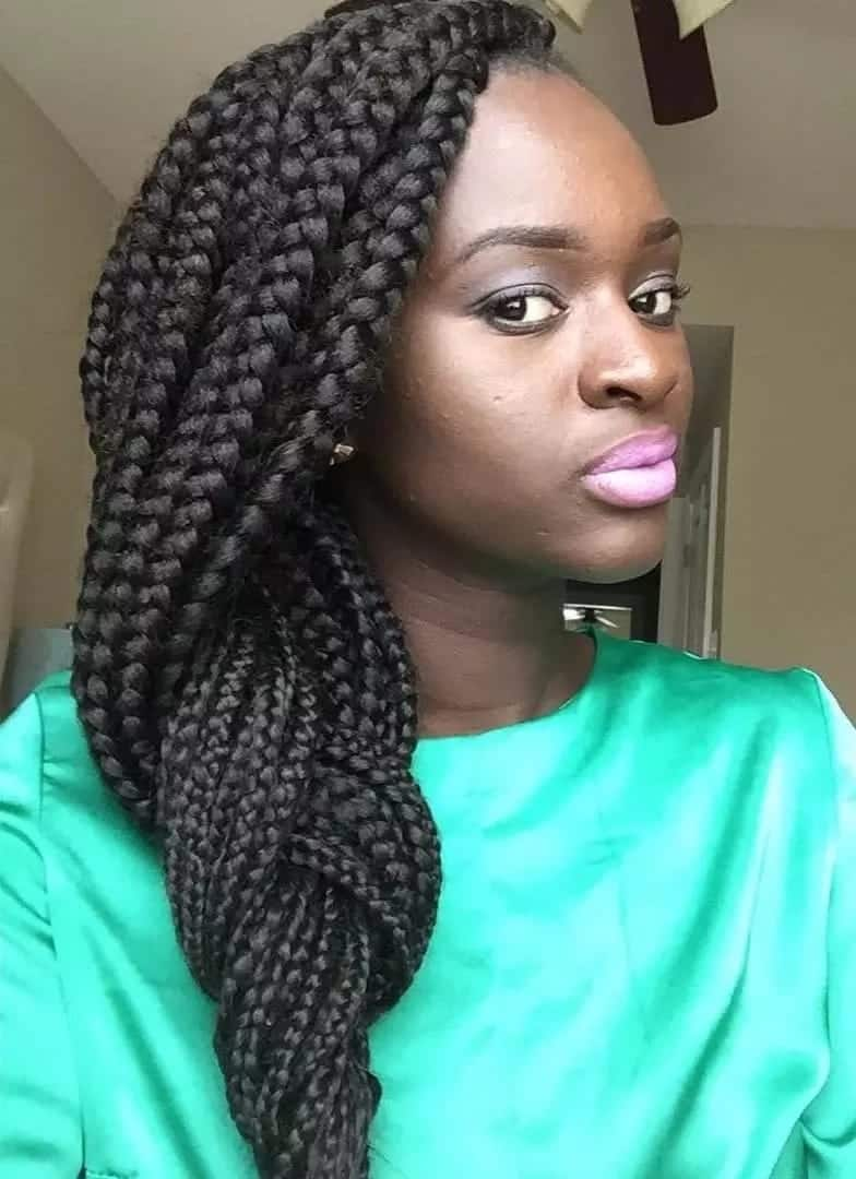 Latest Big Box Braids Hairstyles Tuko Co Ke