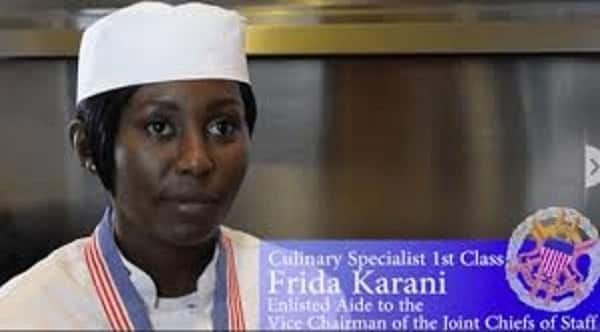 Kenyan woman who cooks for the world's most powerful military