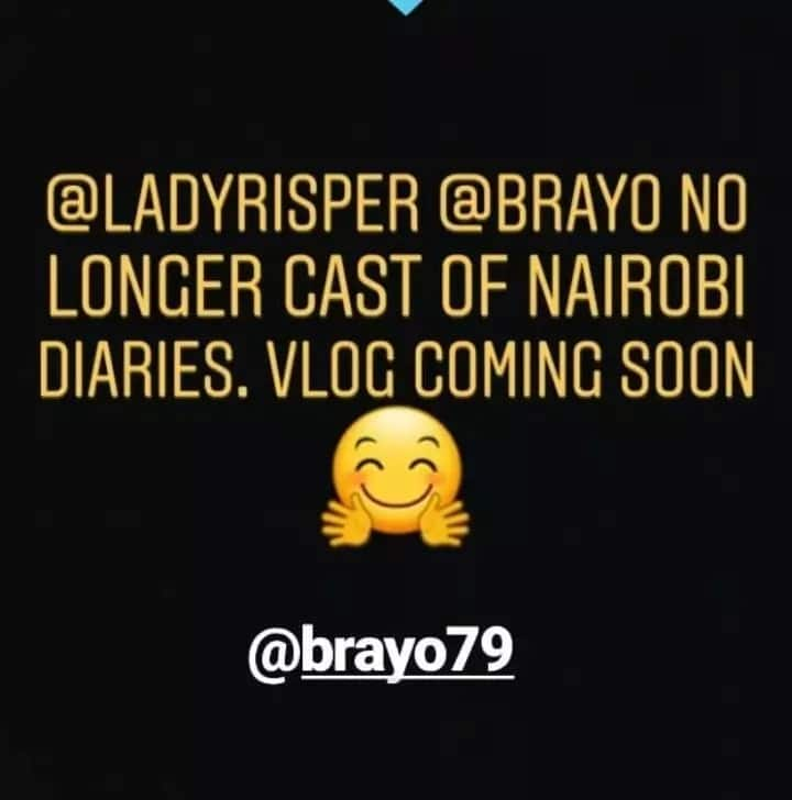 Reformed video vixen Risper Faith and hubby kiss Nairobi Diaries goodbye