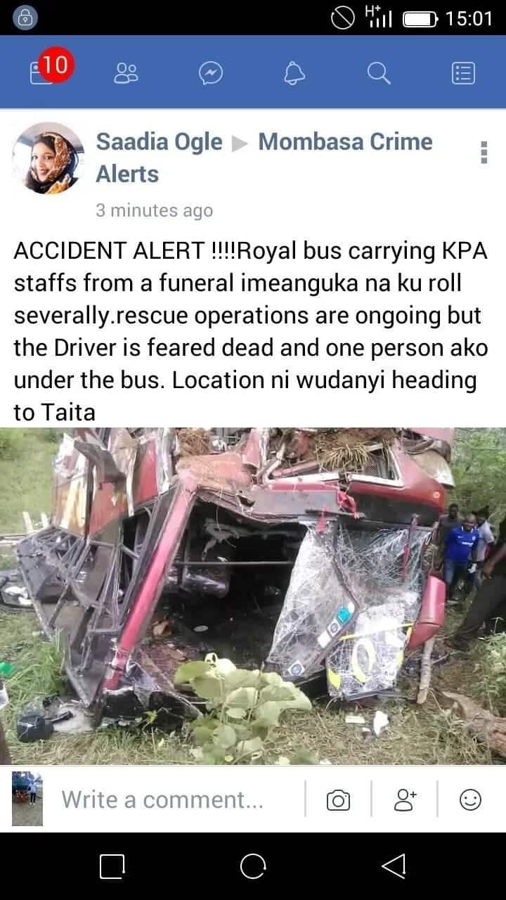 Another deadly accident claims one life and injures several in Taita