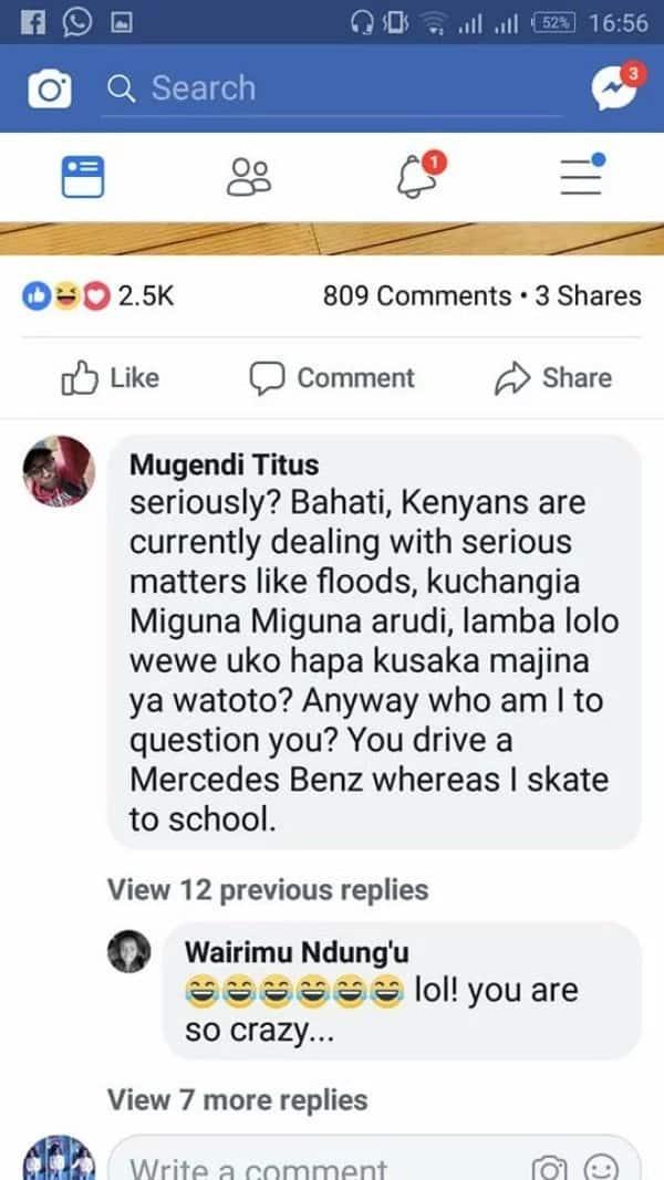 Msanii Bahati awachefua roho Wakenya kwa 'malavidavi' yake na mkewe