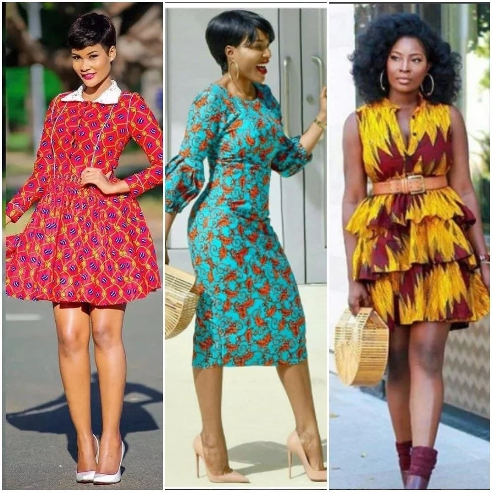 Short Ankara gowns