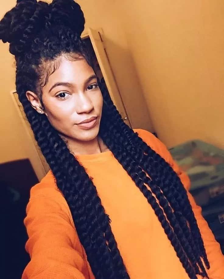 Medium box braids styles