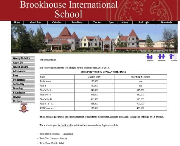 Brookhouse school fees structure 2018