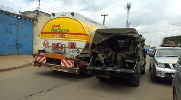 GSU officers escort fuel trucks as government seeks to manage biting fuel crisis