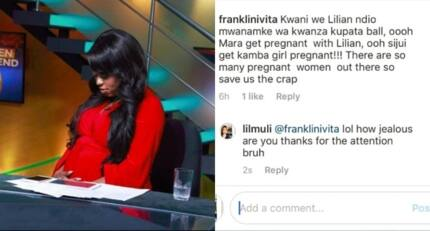 Citizen TV's Lilian Muli viciously takes on fan who insulted her pregnant status