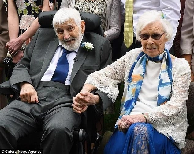 Couple become world's oldest newlyweds after woman, 95 ...