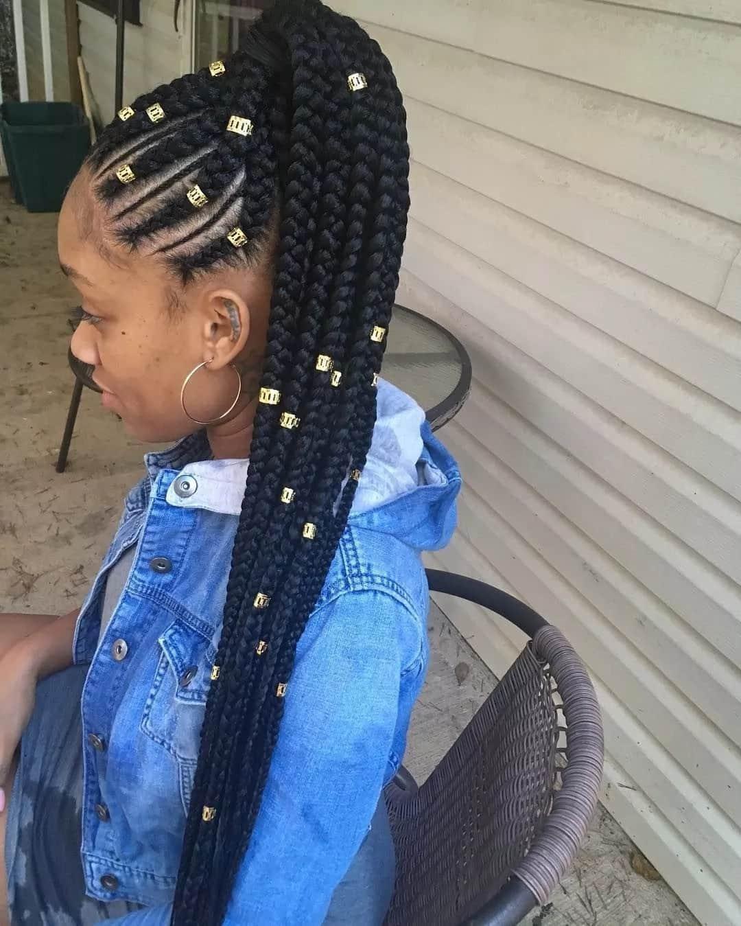 Long braid weaves hairstyles