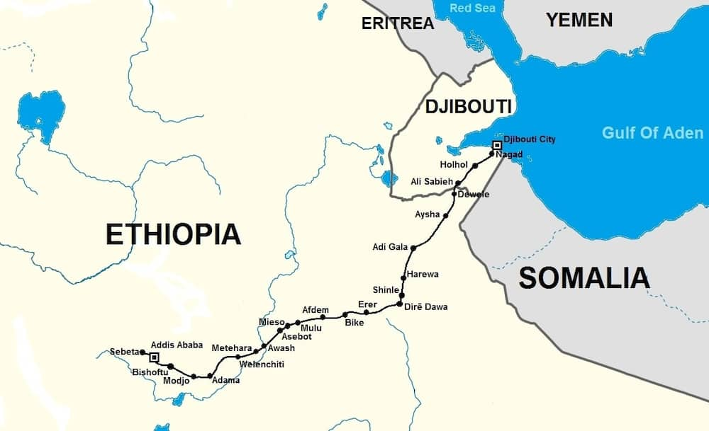 List of horn of Africa countries ▷ Tuko.co.ke Djibouti Africa Map on