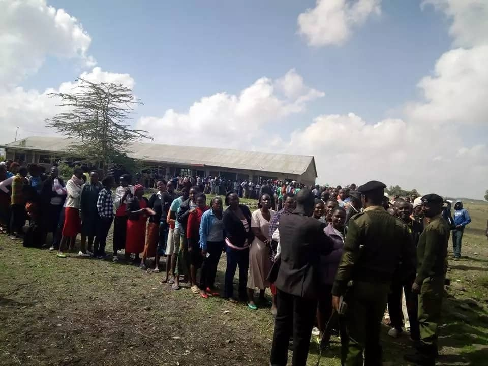 Photos from Machakos showing how ODM nominations are going on