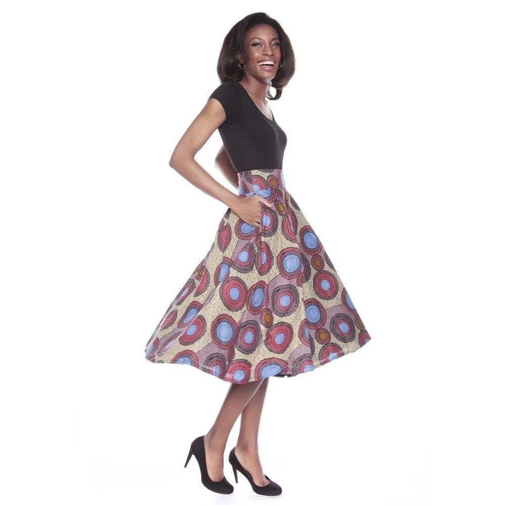 Latest ankara styles 2018 - circle skirt