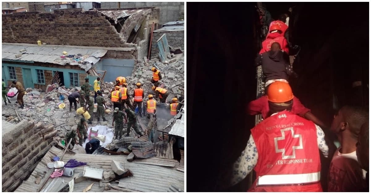 11 families missing after 5-storey building collapsed in Huruma