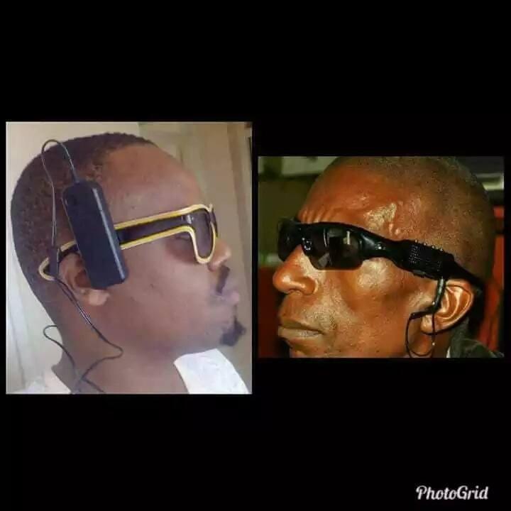 Wakenya wamkejeli eye- witness kwa kubuni miwani yake kienyeji, picha zao zitakuvunja mbavu