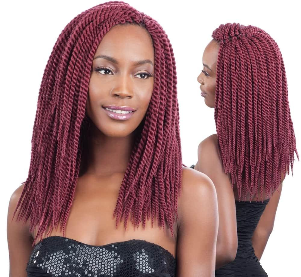Long box braids, Crochet box braids, Box braids bob
